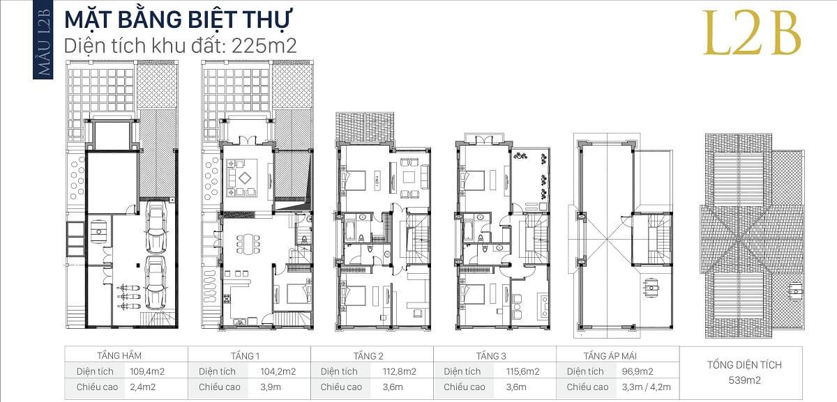 mặt-bằng-căn-l2b-diện-tích-225m2-biệt-thự-an-khang-villa-nam-cường