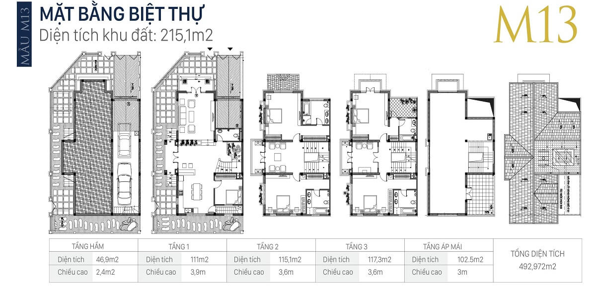 mặt-bằng-căn-M13-diện-tích-215,1m2-biệt-thự-an-khang-villa-nam-cường