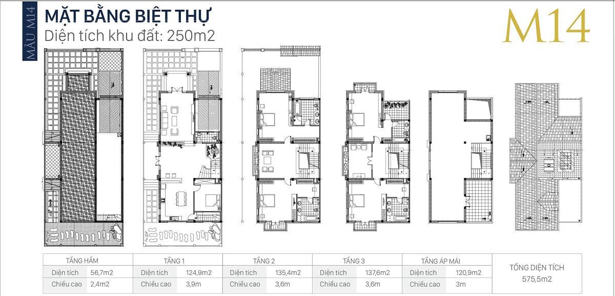 mặt-bằng-căn-M14-diện-tích-250m2-biệt-thự-an-khang-villa-nam-cường
