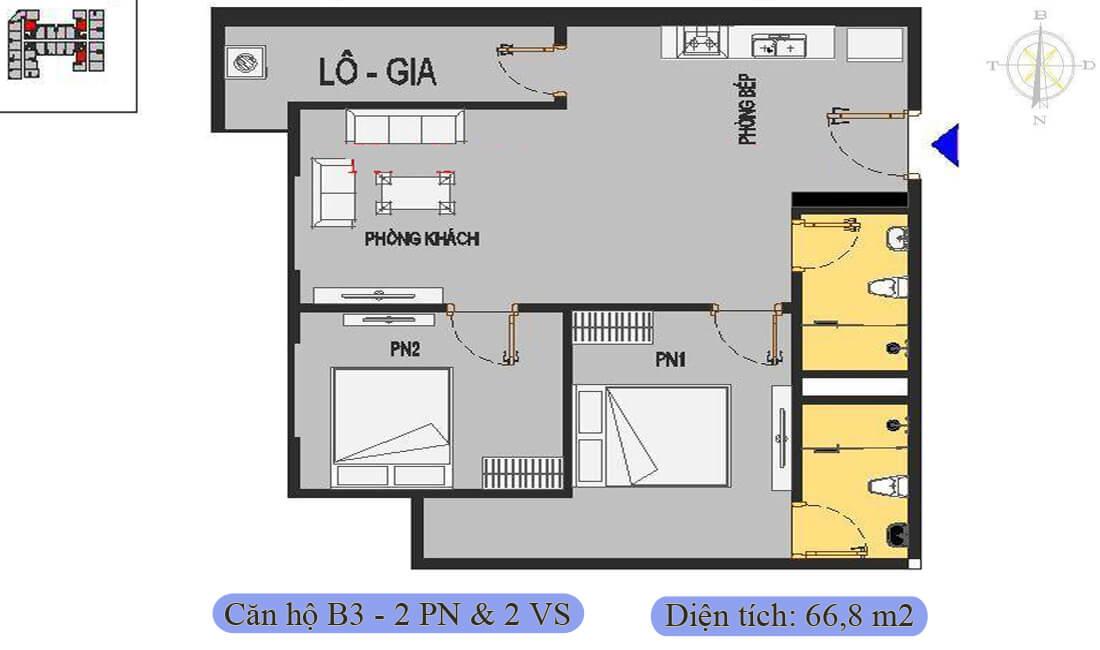 mặt-bằng-căn-b3-66,8m2-nhà-ở-xã-hội-rice-city-thượng-thanh