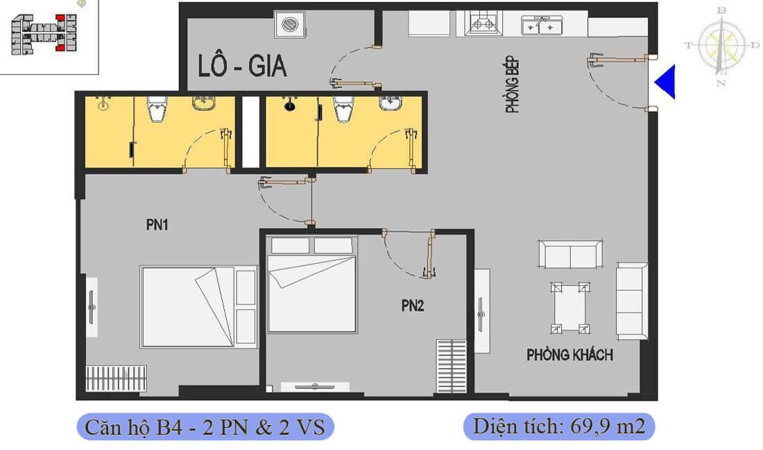 mặt-bằng-căn-b4-69,9m2-nhà-ở-xã-hội-rice-city-thượng-thanh