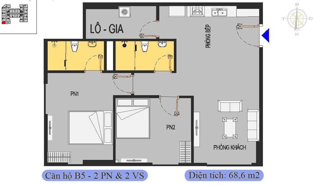 mặt-bằng-căn-b5-68,6m2-nhà-ở-xã-hội-rice-city-thượng-thanh