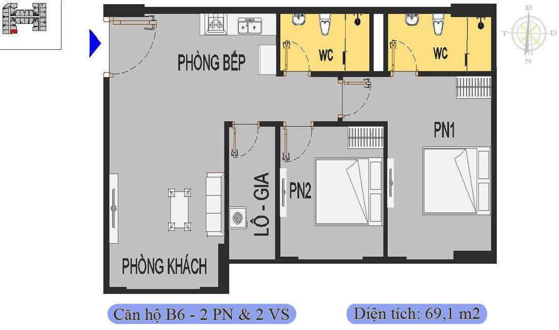 mặt-bằng-căn-b6-69,1m2-nhà-ở-xã-hội-rice-city-thượng-thanh