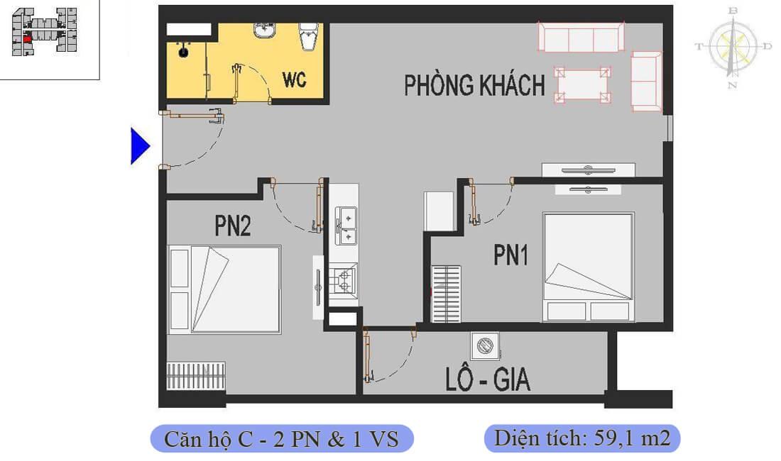 mặt-bằng-căn-c-59,1m2-nhà-ở-xã-hội-rice-city-thượng-thanh